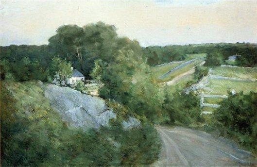 Green Hills And Farmland