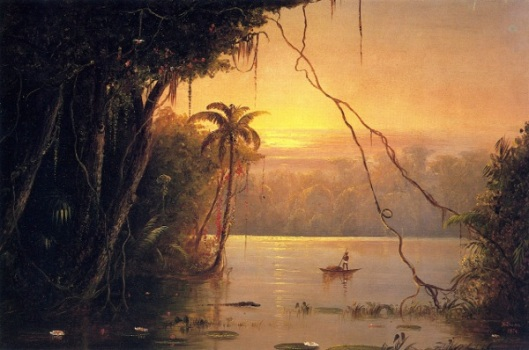 Jungle Scene, Sunset