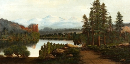 Landscape With Lake And Mountains In The Distance