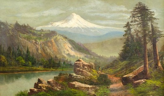 Mount Hood From The Columbia River Gorge