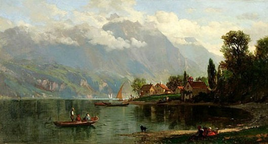 Mountain Landscape With A Lake