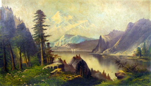 Mountain Landscape With Inland Lake