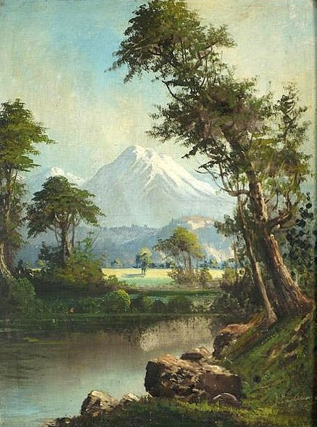 Mountain Landscape With Stream In Foreground