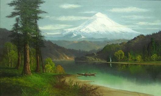 Mt. Hood, Oregon (signed as J. Hart)