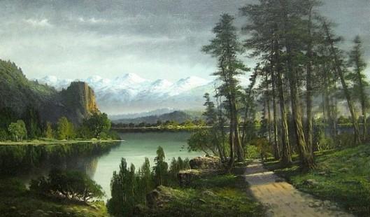 Olympic Mountains, Washington (signed as C. Williams)