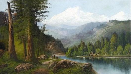 River Mountain Landscape