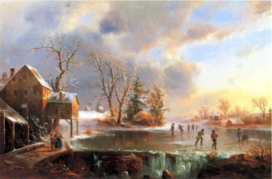 Skaters On A Frozen Pond