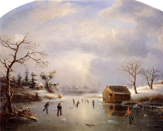 Skating Pond At Morristown, N. J.
