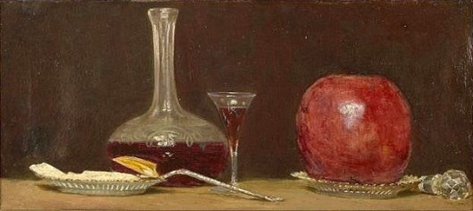 Still Life With A Cheese Gourd And A Wine Flask
