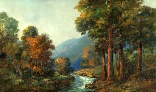 Stream Through A Wooded Landscape - River Landscape