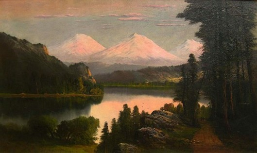 Sunglow, Three Sisters, Oregon (signed as WM Hart)