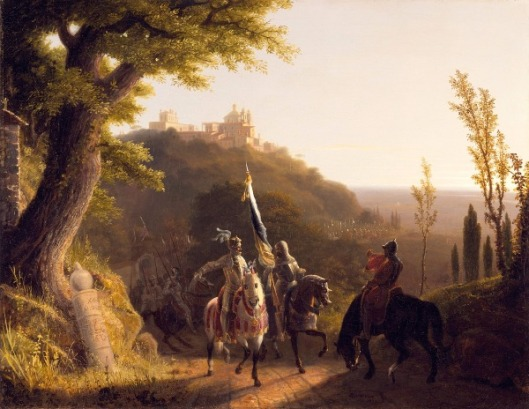 The Duke Of Bourbon's Halt At La Riccia On His March To The Assau Rome, May 3d, 1527