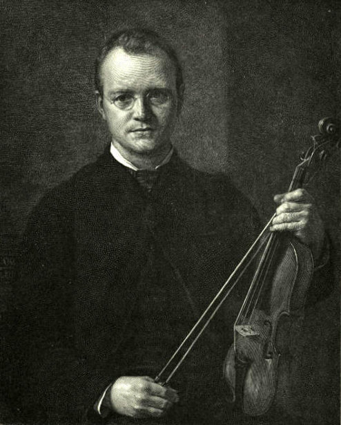 The Man With A Violin - Portrait Of T. Cole