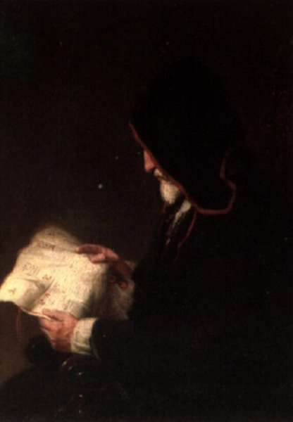 The Old Counsellor - Hooded Monk Reading Paper