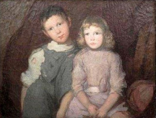 Unfinished Portrait Of Two Children