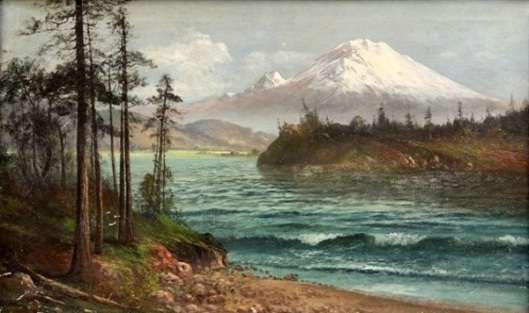 View Of Mount Hood And Columbia River