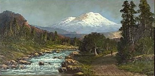 View Of Mount Shasta From The River Valley