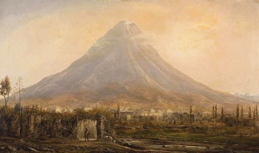View Of Popocatepetl From Cholula