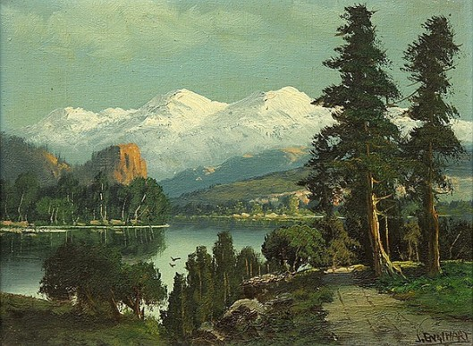 View Of The Sierras From A Lake