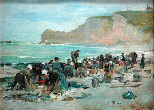 Washerwomen On The Beach, Etretat