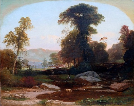 White Mountains Landscape With A Figure