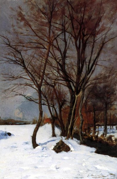 Winter Landscape With Stream