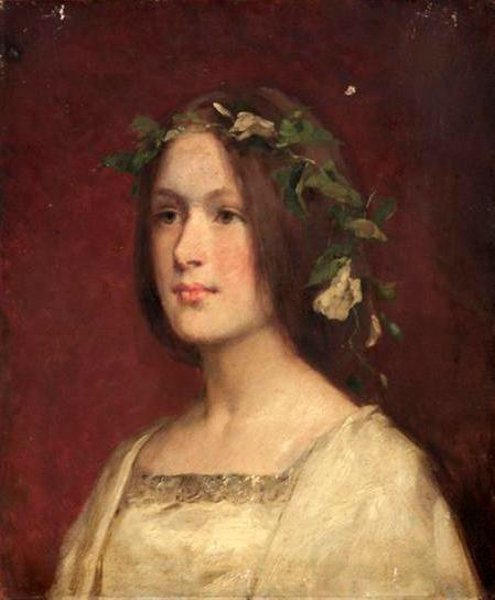 Young Woman With Ivy In Her Hair