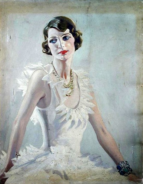 Alison Hore-Ruthven, later Lady Barran, Wearing Diamonds And Emeralds