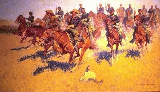 Cavalry Charge On The Southern Plains
