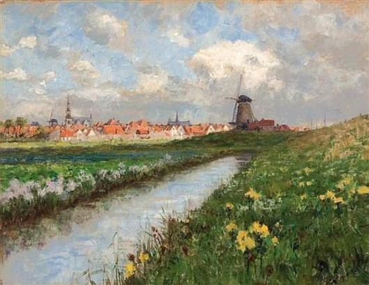 Dutch Landscape With Daffodils
