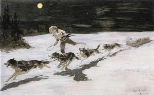 Huskie Dogs On The Frozen Highway - Talking Musquash