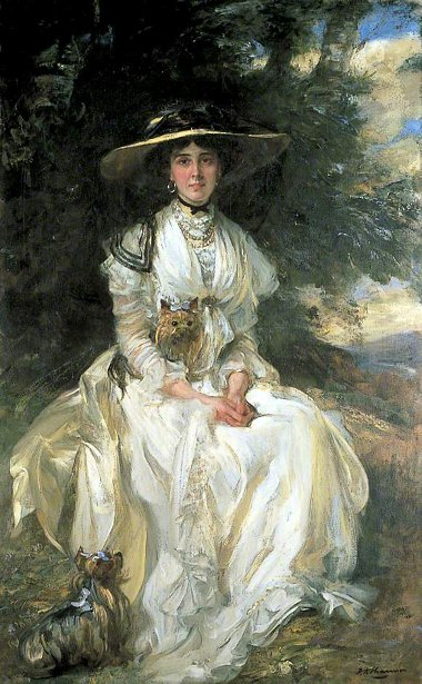 Lady Barber In A Landscape