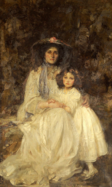 Lady Dickson-Poynder And Her Daughter Joan