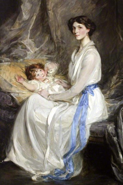 Lady Winifred Paget And Her Infant Son