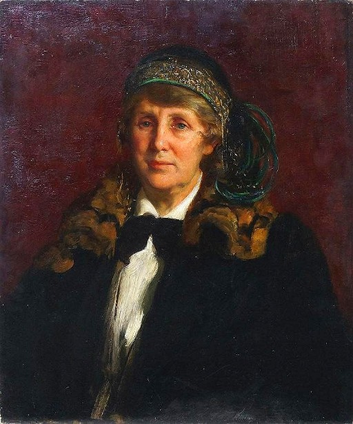 Portrait Of A Lady In A Fur Trimmed Coat