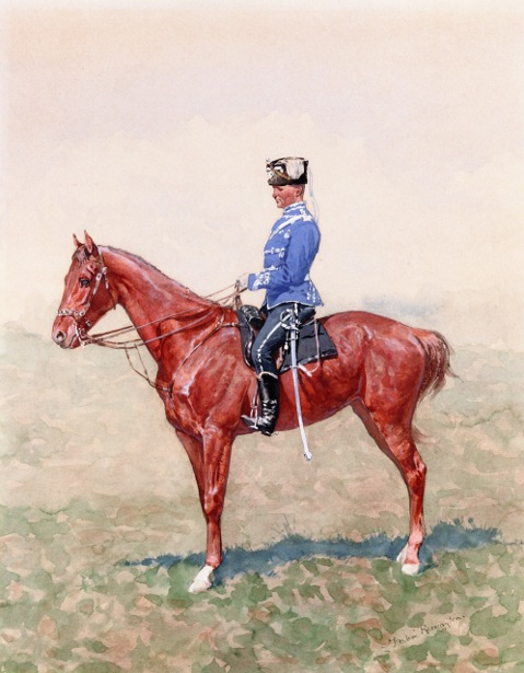 Prussian Cavalry Officer On Horseback
