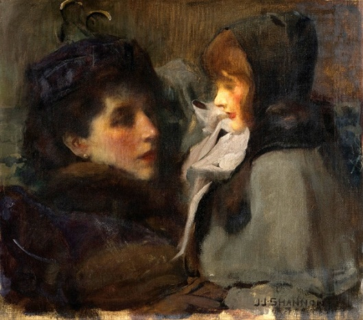 The Artist's Wife And Daughter