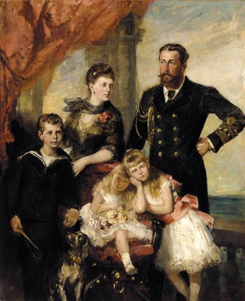 The Duke And Ducchess Of Edinburgh With Their Children