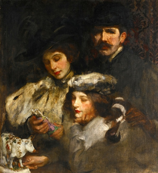 The Painter, His Wife And Daughter