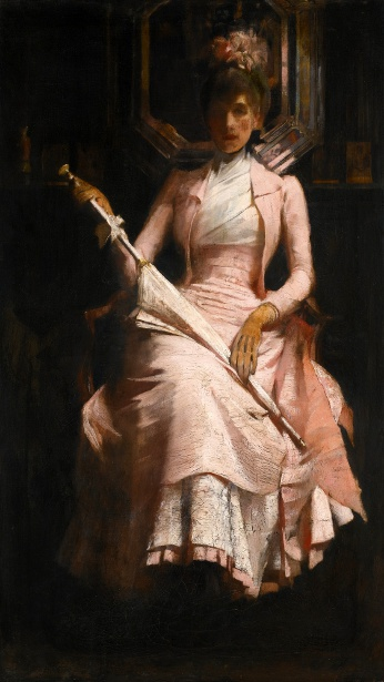 The Pink Silk Dress