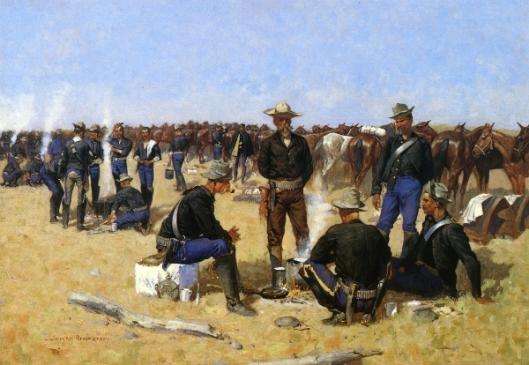 A Cavalryman's Breakfast On The Plains