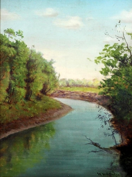 A Summer Landscape With A Stream