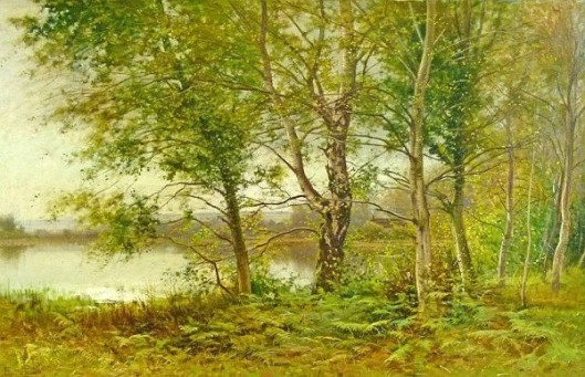 A Wooded Riverside Landscape