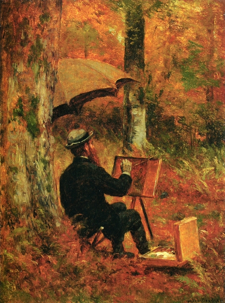 An Artist At His Easel