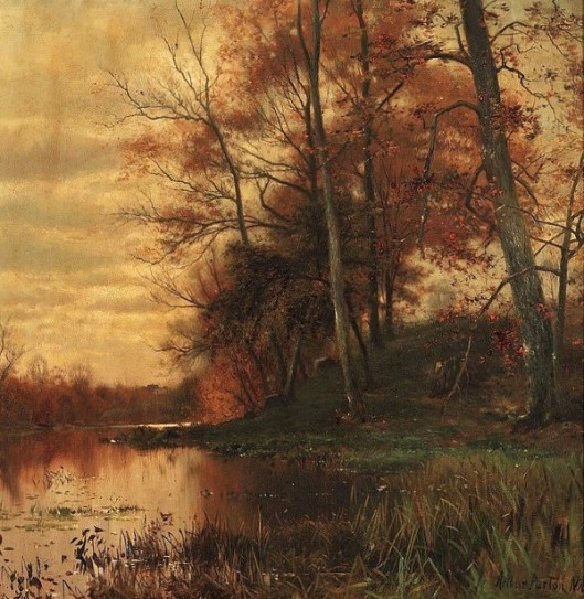 By The Pond Shore, Autumn - Fall Landscape
