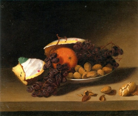 Cake, Raisins And Nuts
