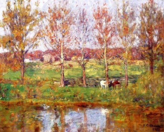 Cows By The Stream
