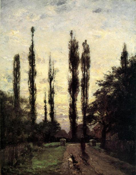 Evening, Poplars