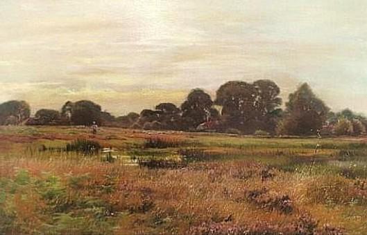 Farmhouses Near A River