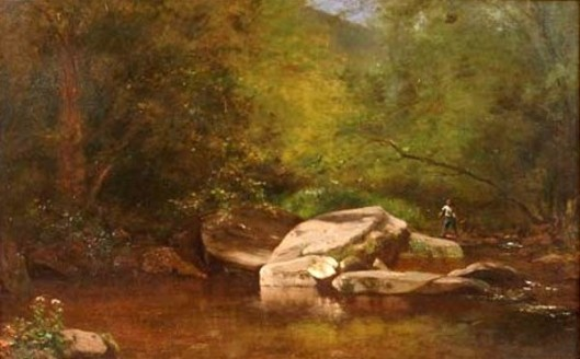 Fishing By The Rocky Pool